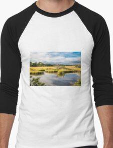 Grasses in Wetland Marsh Men's Baseball ¾ T-Shirt