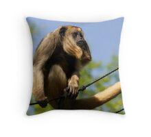 Female Black Howler Monkey Throw Pillow