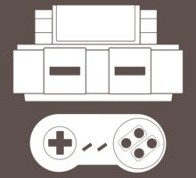 Let's Play SNES (White One Piece - Short Sleeve