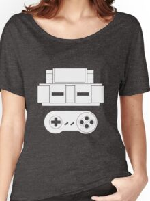 Let's Play SNES (White Women's Relaxed Fit T-Shirt