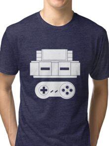 Let's Play SNES (White Tri-blend T-Shirt