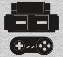 Let's Play SNES (Black) by innergeekdesign
