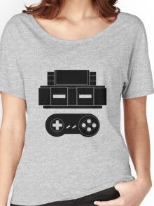 Let's Play SNES (Black) Women's Relaxed Fit T-Shirt
