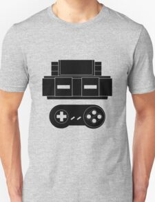Let's Play SNES (Black) T-Shirt