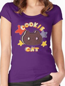 Steven Universe- Cookie Cat Women's Fitted Scoop T-Shirt