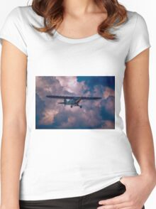 Piper Cub L4 Women's Fitted Scoop T-Shirt