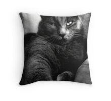 Cat Black&White Throw Pillow