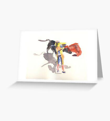 Toro & Torrero  Greeting Card
