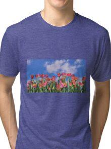 Tulips Galore Tri-blend T-Shirt