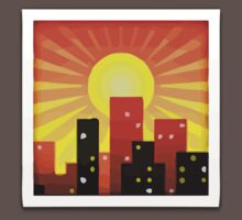 Sunset Over Buildings Apple / WhatsApp Emoji Kids Clothes