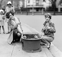 Girls with Pet Ducklings, 1927 by historyphoto