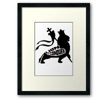 LION CONQUER WHITE Framed Print