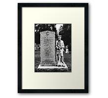 Memorial Stone Black&White Framed Print