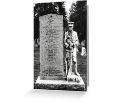 Memorial Stone Black&White Greeting Card