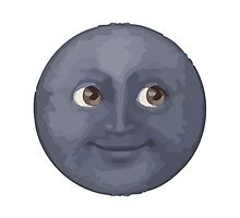 New Moon With Face Apple / WhatsApp Emoji by emoji
