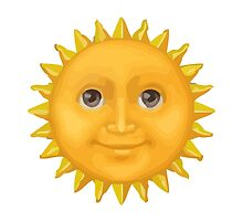 Sun With Face Apple / WhatsApp Emoji by emoji