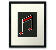 Vintage Music Note Framed Print