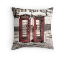 Phonebox - Snow II Throw Pillow