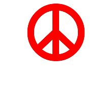 Red Peace Sign Symbol Photographic Print