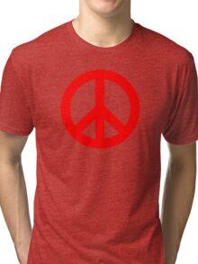 Red Peace Sign Symbol Tri-blend T-Shirt