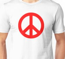 Red Peace Sign Symbol Unisex T-Shirt