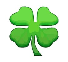 Four Leaf Clover Apple / WhatsApp Emoji by emoji