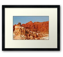 Osprey & Nest, Pindan Cliffs, James Price Point ,Broome WA Framed Print