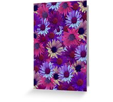 Purple Flower Collage Greeting Card