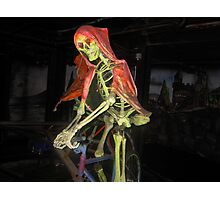 skeleton on a bike Photographic Print