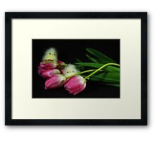 Birds In Bloom Framed Print