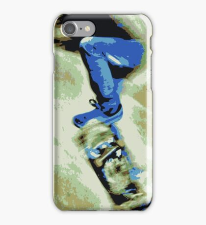 Skating the bowl, colour iPhone Case/Skin