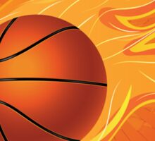 Fire Basketball Ball Background Sticker