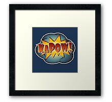 KAPOW! Framed Print