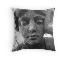 Woman Statue Black&White Throw Pillow