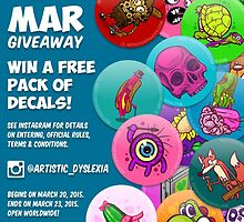 March Giveaway by artdyslexia