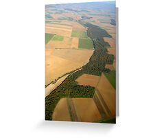 The World From Above Greeting Card