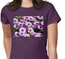 Purple daisies Womens Fitted T-Shirt
