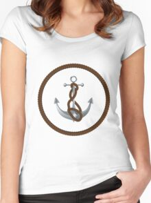 Anchor with rope 2 Women's Fitted Scoop T-Shirt