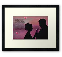 I Pledge To You Framed Print
