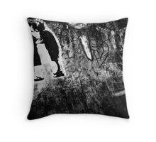 Graffiti Kiss Throw Pillow