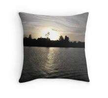 Sunset Over The Manning River Throw Pillow