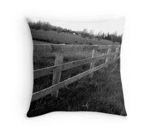Fence Black&White Throw Pillow