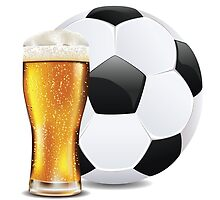 Beer and Soccer Ball by AnnArtshock