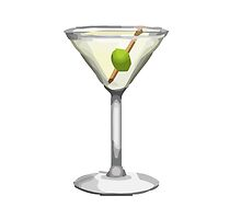 Cocktail Glass Apple / WhatsApp Emoji by emoji