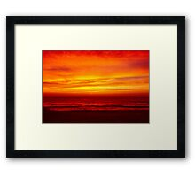 fire from heaven Framed Print