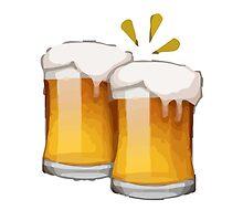 Clinking Beer Mugs Apple / WhatsApp Emoji by emoji