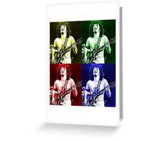 Carlos Santana 4 Colours Greeting Card