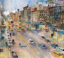 High Line New York City Street  by Dorrie  Rifkin