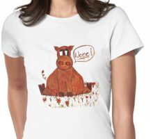 Pig in the Grass Womens Fitted T-Shirt