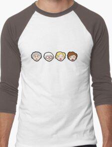 Emoji Golden Girls Men's Baseball ¾ T-Shirt